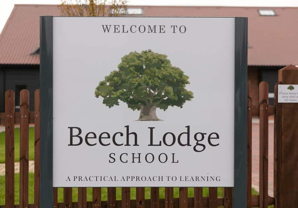BL school sign