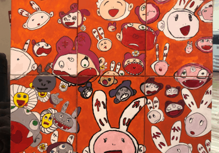 """Wow""  By  Takashi Murakami A collaboration between  Leon, Sam, Vinnie,  Henry L and George B"